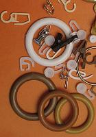 Крючки, кольца, зажимы