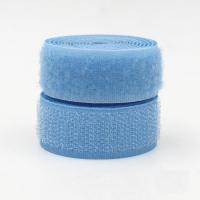 Лента контактная (липучка) голубая, 25 мм