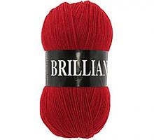 Пряжа Vita Brilliant, цвет 4968 красный