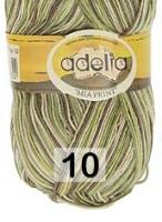 Adelia «MIA PRINT» №  10 зеленый-коричневый-св.бежевый