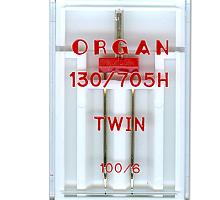 Иглы для бытовых швейных машин Organ двойные 100/6 в пенале