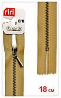 Молнии RIRI ТОП-СТАР металл неразъемная, 3 мм, 18 см, тип подвески TROPF, цв