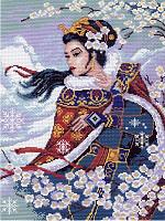 """Рисунок на канве 37х49см арт.373 """"Восточный цветок"""""""