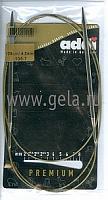 Спицы, круговые, супергладкие, никель, №4,5, 120 см.
