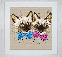 """Набор для вышивания """"Кошки"""", """"Luca-S"""""""