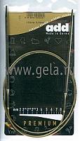 Спицы, круговые, супергладкие, никель, №4, 100 см.