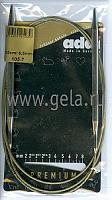 Спицы, круговые, супергладкие, никель, №6.5, 120 см.