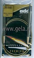 Спицы, круговые, супергладкие, никель, №9, 100 см.