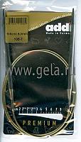 Спицы, круговые, супергладкие, никель, №6, 100 см.