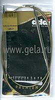 Спицы, круговые, супергладкие, никель, №6, 120 см.