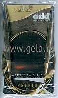 Спицы, круговые, супергладкие, никель, №10, 100 см