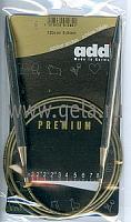 Спицы, круговые, супергладкие, никель, №8, 120 см.