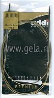 Спицы, круговые, супергладкие, никель, №4, 150 см.