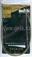 Спицы, круговые, супергладкие, никель, №3,5, 120 см.