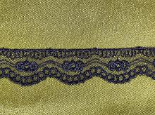 Кружево на сетке 20мм темно-синее (цена за 1 см)