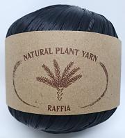 Пряжа Рафия (Raffia), цвет 138 темный антрацит