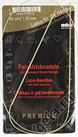 Спицы, круговые, с удлиненным кончиком, позолоченные, №1,75, 80 см