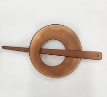 "Зажим-застежка (фибула) 138 х 70 мм., ""медный круг"""