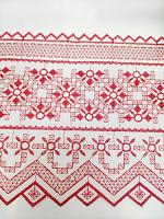 Шитье красно-белое