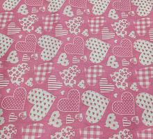 Хлопок 1.5 баварские сердца на розовом
