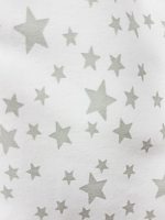 Трикотаж хлопковый серые звездочки (цена за 1 см)
