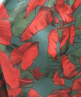 Штапель 3D алые листья