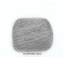 Лен Flax 9999 - серый меланж