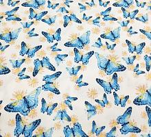 Джинс тонкий стрейч Бабочки голубые