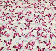 Джинс тонкий стрейч Бабочки розовые