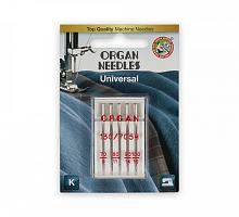 Иглы Organ №70-100 универсальные ассорти для бытовых швейных машин 5 шт в пенале