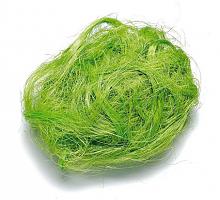 Джут окрашенный, 25 г,  зеленый