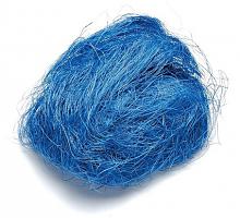 Джут окрашенный, 25 г,  голубой