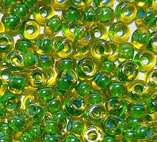 Бисер прозрачный с цветной линией 81014
