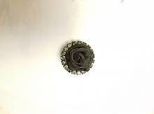 Пуговица на ножке графит. 25 мм