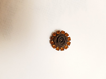 Пуговица на ножке шоколадная. 18 мм