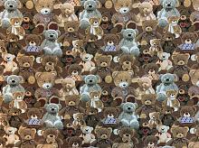Гобелен  мишки Тедди песочный