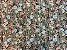 Гобелен Тюльпаны зеленые (цена за 1см)