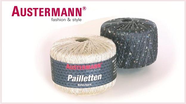 Пряжа Pailletten от AUSTERMANN (Германия)