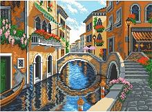 "Рисунок на канве 37х49см арт.527 ""На улицах Венеции"""