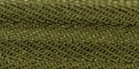 Молния RIRI ТОП-СТАР металл неразъемная, 3 мм, 18 см, тип подвески TROPF, цвет цепи Ni, цвет 2827 светлый хаки