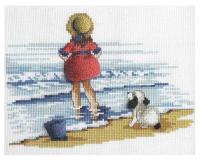 """Набор для вышивания """"Девочка с собакой"""""""