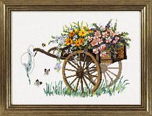 """Набор для вышивания """"Повозка с цветами"""""""