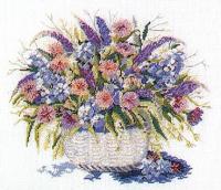 """Набор для вышивания """"Корзина с цветами"""""""