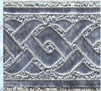 Тесьма жаккард серебро 5 см