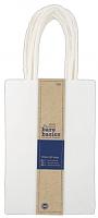 Сумка бумажная подарочная для декорирования белая маленькая