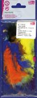 Перья марабу разноцветные, 8-10 см