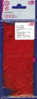 Перья марабу красные, 8-10 см