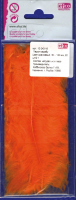 Перья марабу оранжевые, 8-10 см