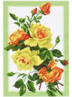 """Рисунок на канве 37х49см арт.1224 """"Букет роз"""""""