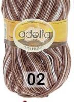 Adelia «MIA PRINT» №  02 белый-коричневый